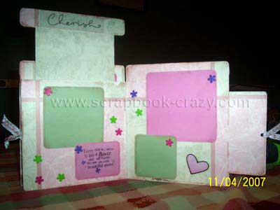 baby girl scrapbook - peek-a-boo album