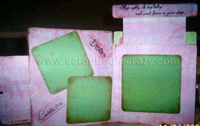 peek a boo scrapbook mini album by tima
