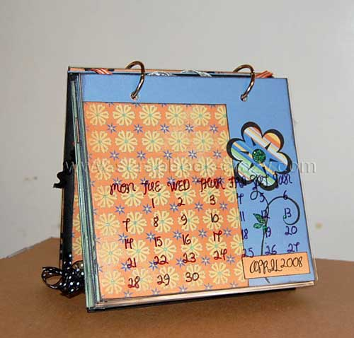 2008 scrapbooking calendar april