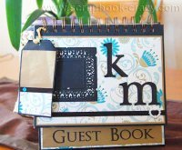 wedding guest book scrapbook
