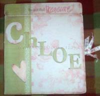 baby girl scrapbook - Chloe