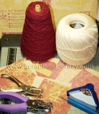 Crochet Mini  Scrapbook supplies