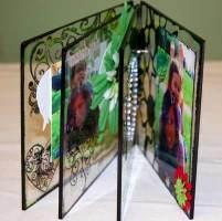 side view of acrylic mini album