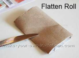 Toilet Roll Mini Album - flatten the rolls