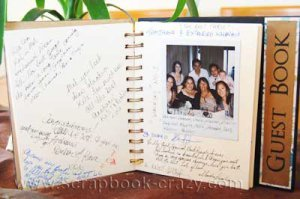 wedding guest scrapbook