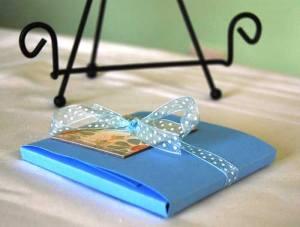 baby mini album in mini fold up envelope