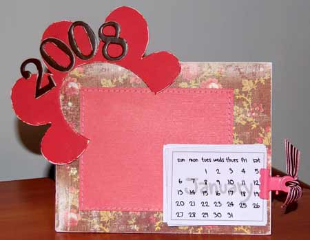 make an easy scrapbook calendar
