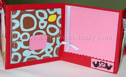 accordion mini album - two little love birds and photo mats