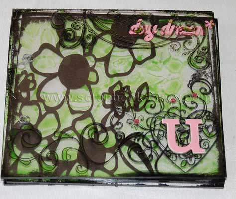 acrylic scrapbook mini album