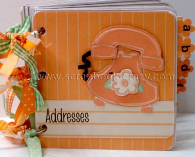 address book orange