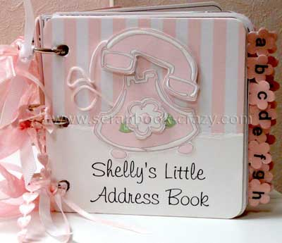 pink mini address book