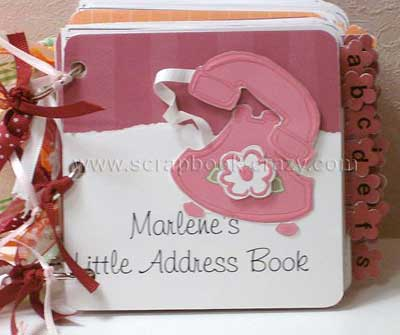 scrapbook mini address book