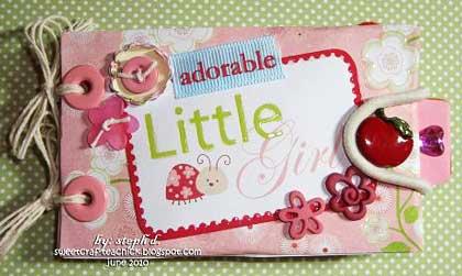 Adorable Girl Mini Scrapbook