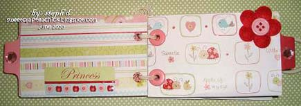 Adorable Girl Mini Scrapbook - inner pages