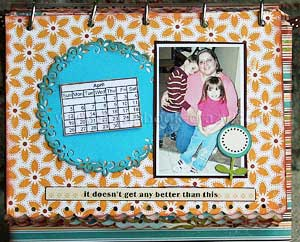 make a scrapbook calendar