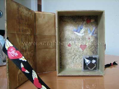 altered keepsake box