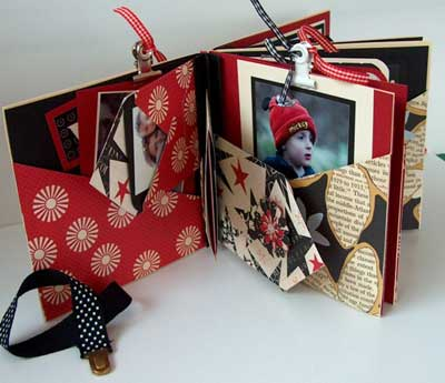 mini album gift with pockets for photo tags