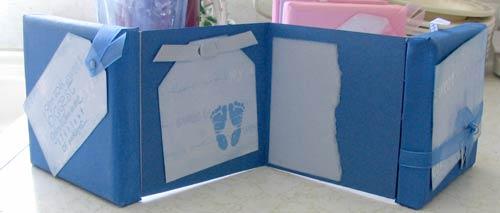 canvas scrapbook mini album for a boy
