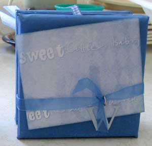 canvas scrapbook for a baby boy