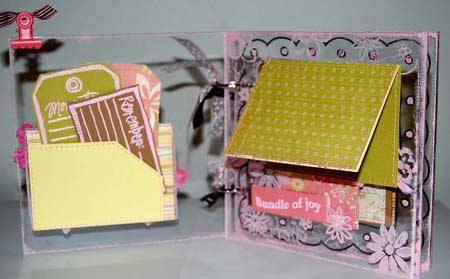 baby mini scrapbook