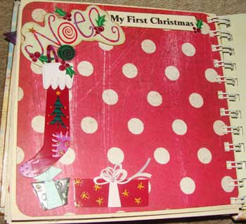 baby memory book - first Christmas