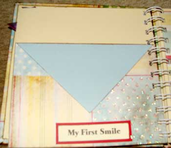 baby memory book - first smile
