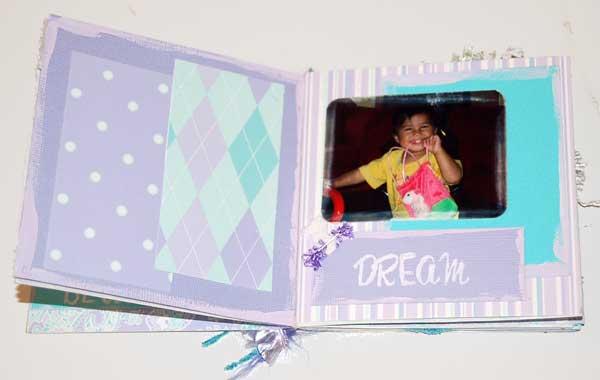 baby scrapbook album of Kellys little girl