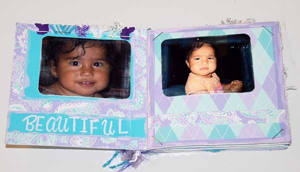 baby scrapbook album making mini album scrapbooks
