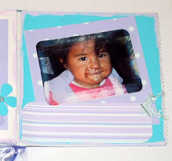 baby scrapbook album -mini album of Kels little girl