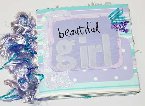 baby scrapbook album - pages from the album
