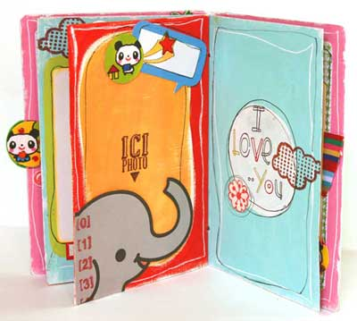 birthday scrapbook - elephant pages