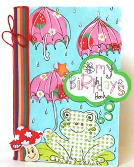 birthday scrapbook - front cover