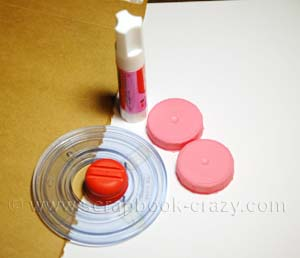 Bottle Cap Scrapbook supplies