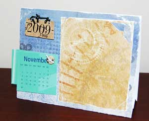 Making Calendars for 2009 from Cardboard and scrapbook stuff