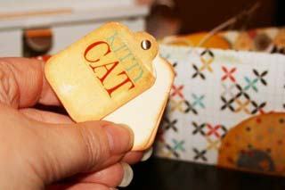 mini cat tag book