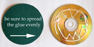 cd mini album - spread on some glue