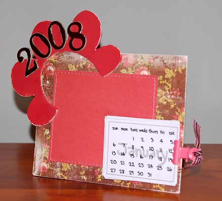 make a calendar from chipboard.