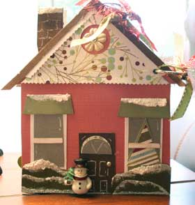 Christmas House scrapbook