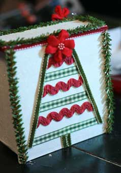 Christmas Luminary Box - the back