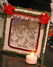 Christmas Luminary Box with candle