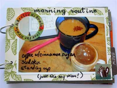 coffee scrapbook mini album