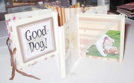 dog mini album scrapbook pages