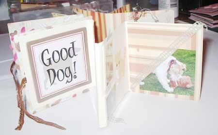 dog mini album scrapbook pages