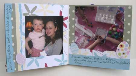 Easter scrapbook - innder pages