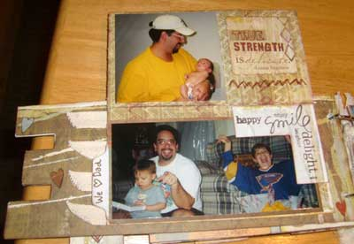 scrapbook mini album gift for fathers day