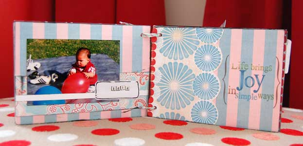 First birthday mini album - little boy kaia