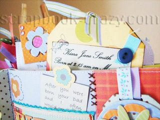 First Days paper bag scrapbook