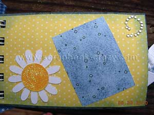 sparkle glitter flowers Friends Mini album Scrapbook