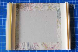 Gatefold Mini Scrapbook - add the spines