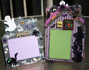 Halloween 2008 Scrapbook - photo mats